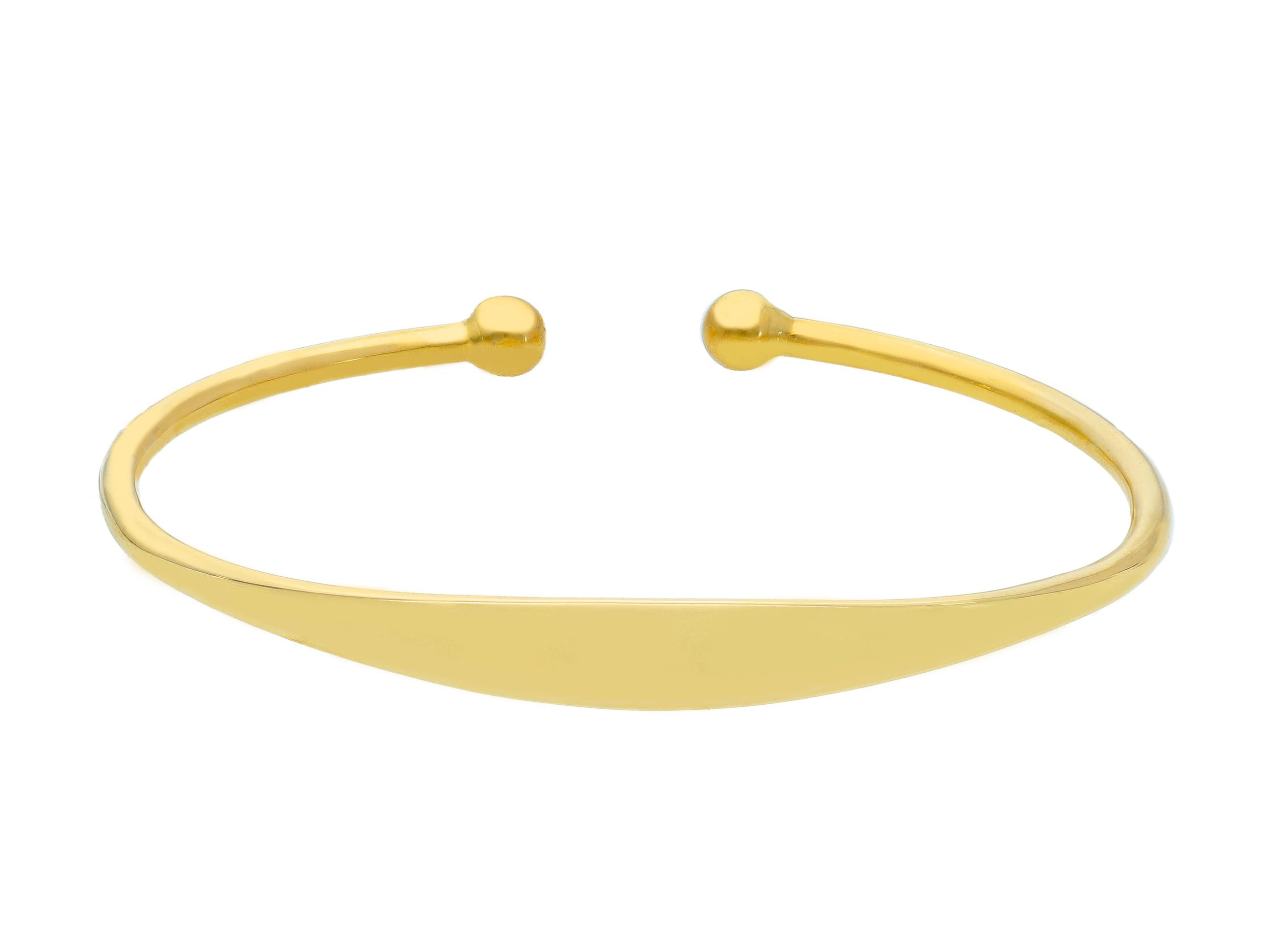Stylish 18ct Yellow Gold Bracelet Daimeter 60mm