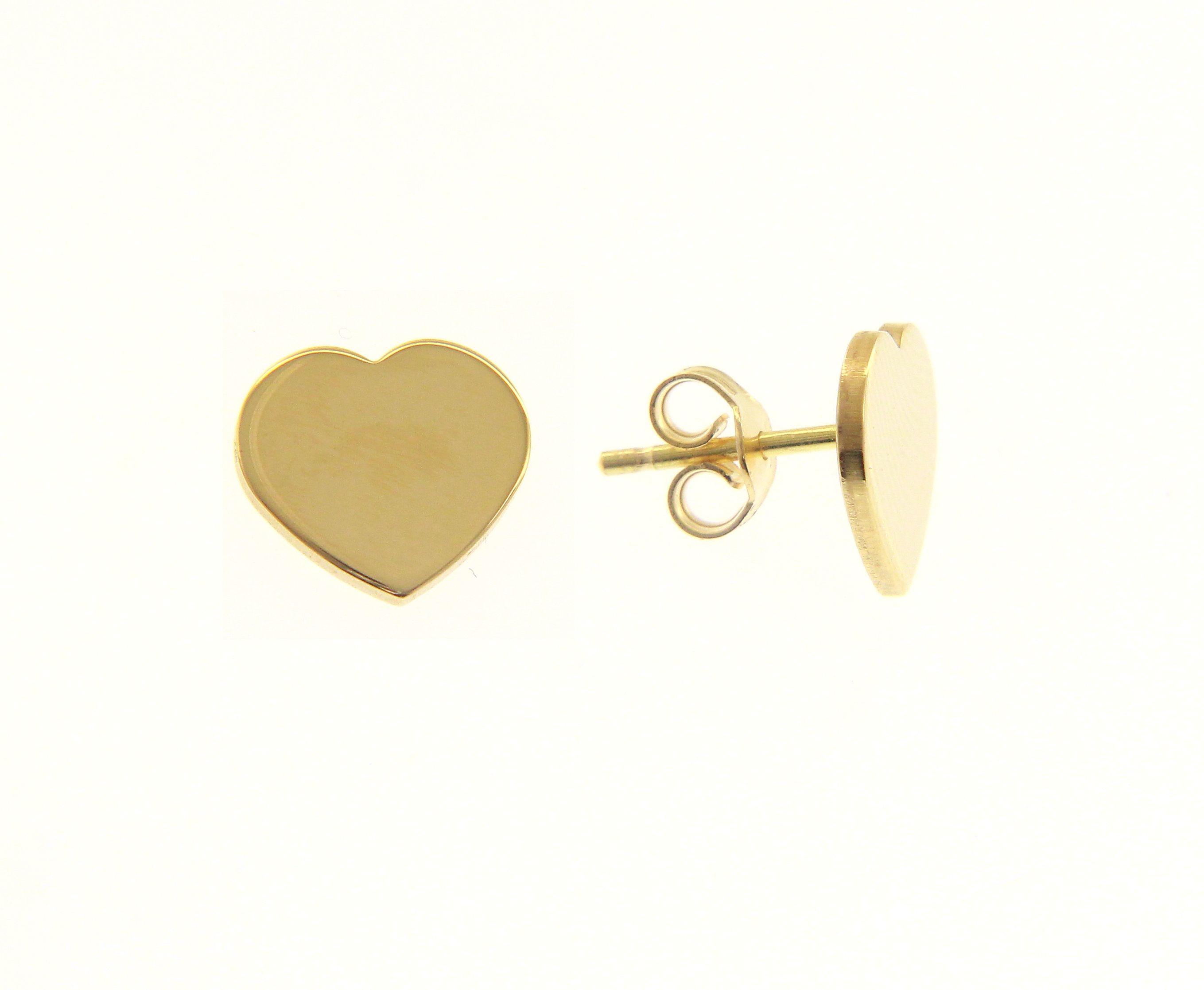 Beautiful 18ct Yellow Gold Babies Heart Earrings