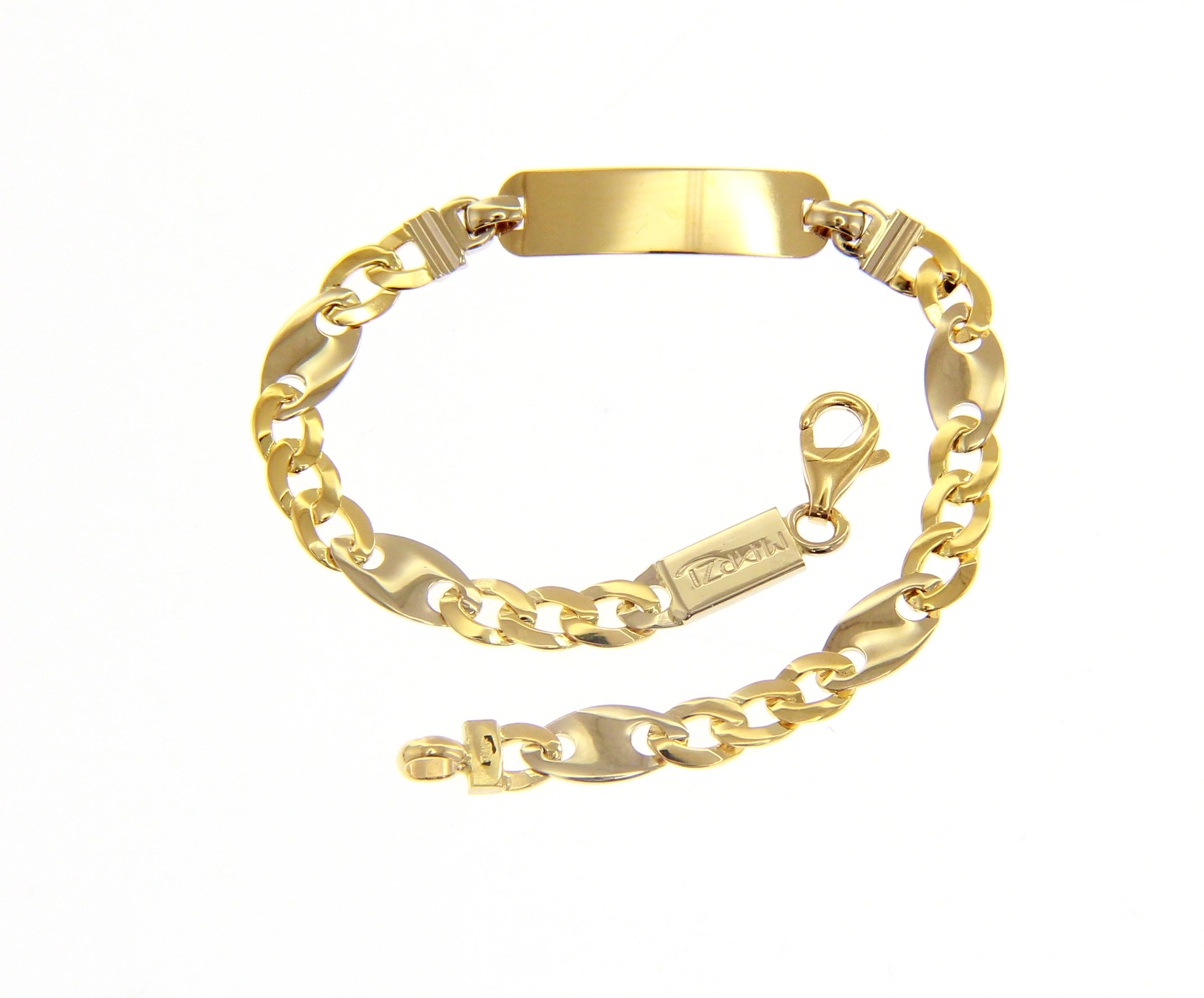 Beautiful 18ct Yellow And White Gold 14,5 cm Bracelet