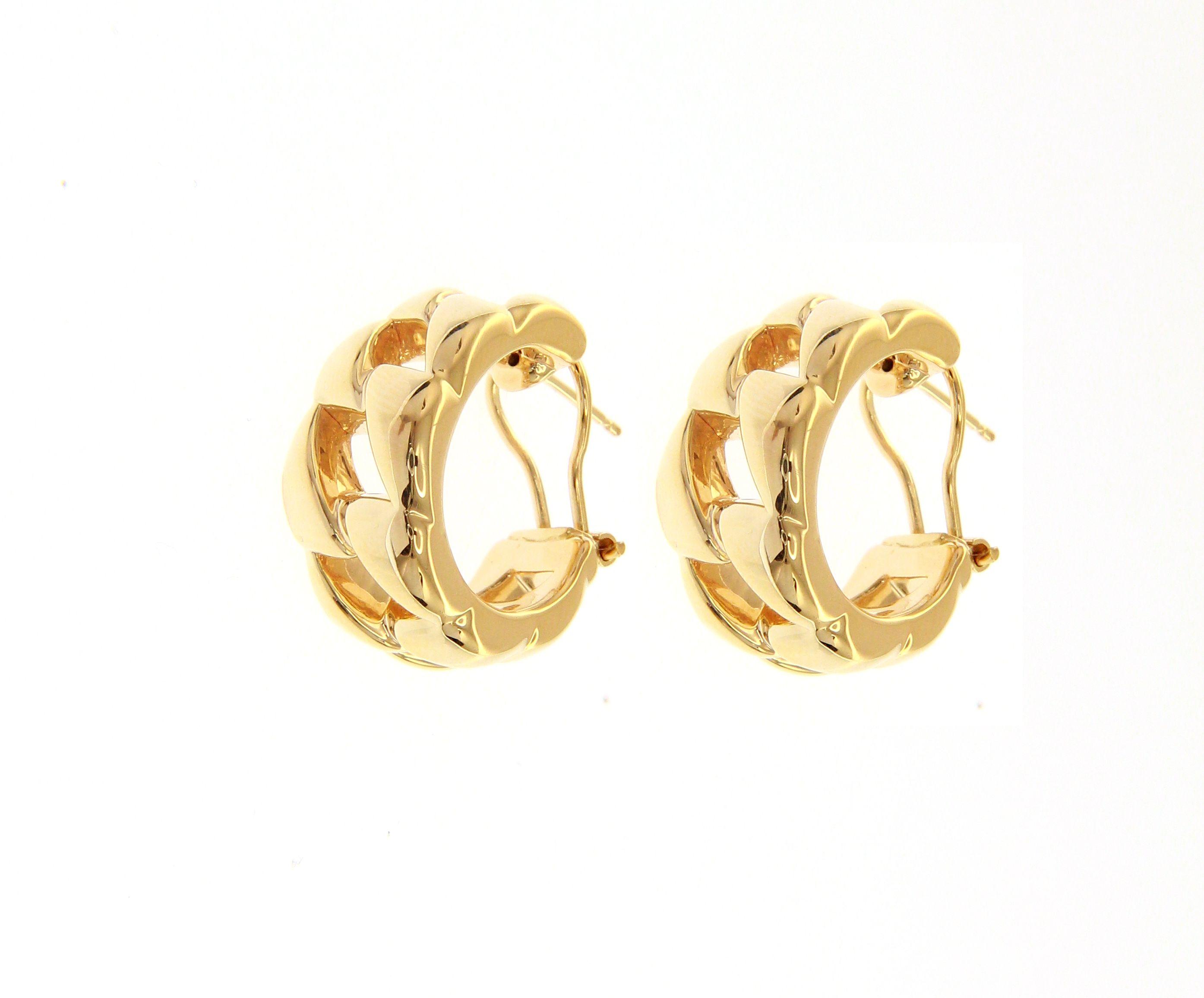 Beautiful 18ct Yellow Gold Stud/Clip Earrings