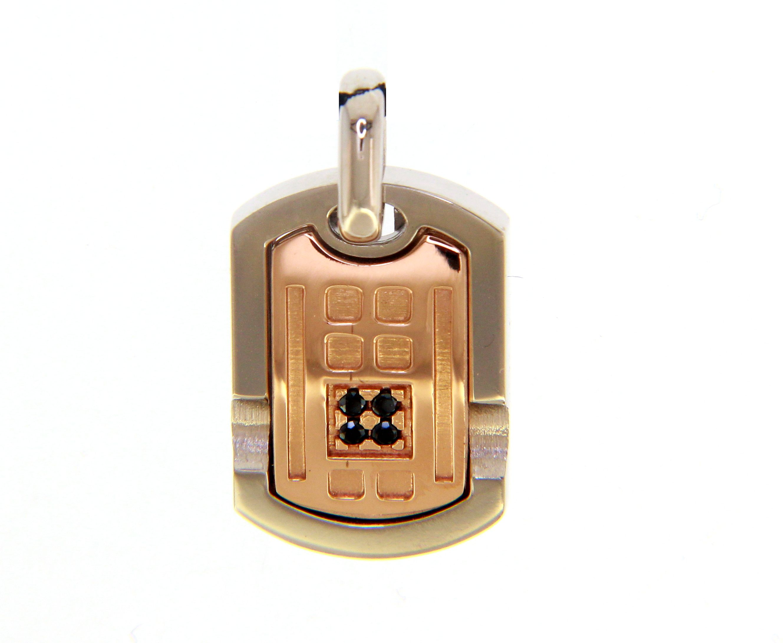 Stylish, Military hit and Pink Gold Pendant with Black Spinal