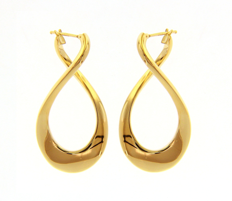 Beautiful 18ct Yellow Gold Hoop Earrings