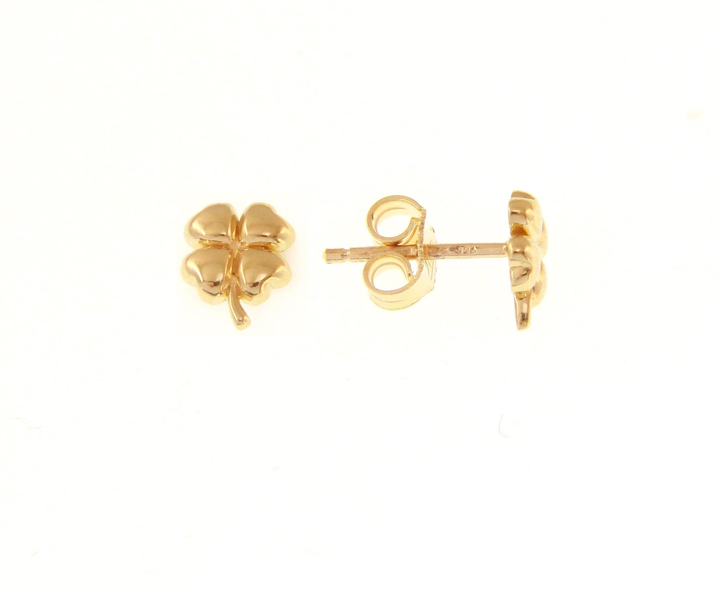 Beautiful 18ct Yellow Gold Babies Earrings
