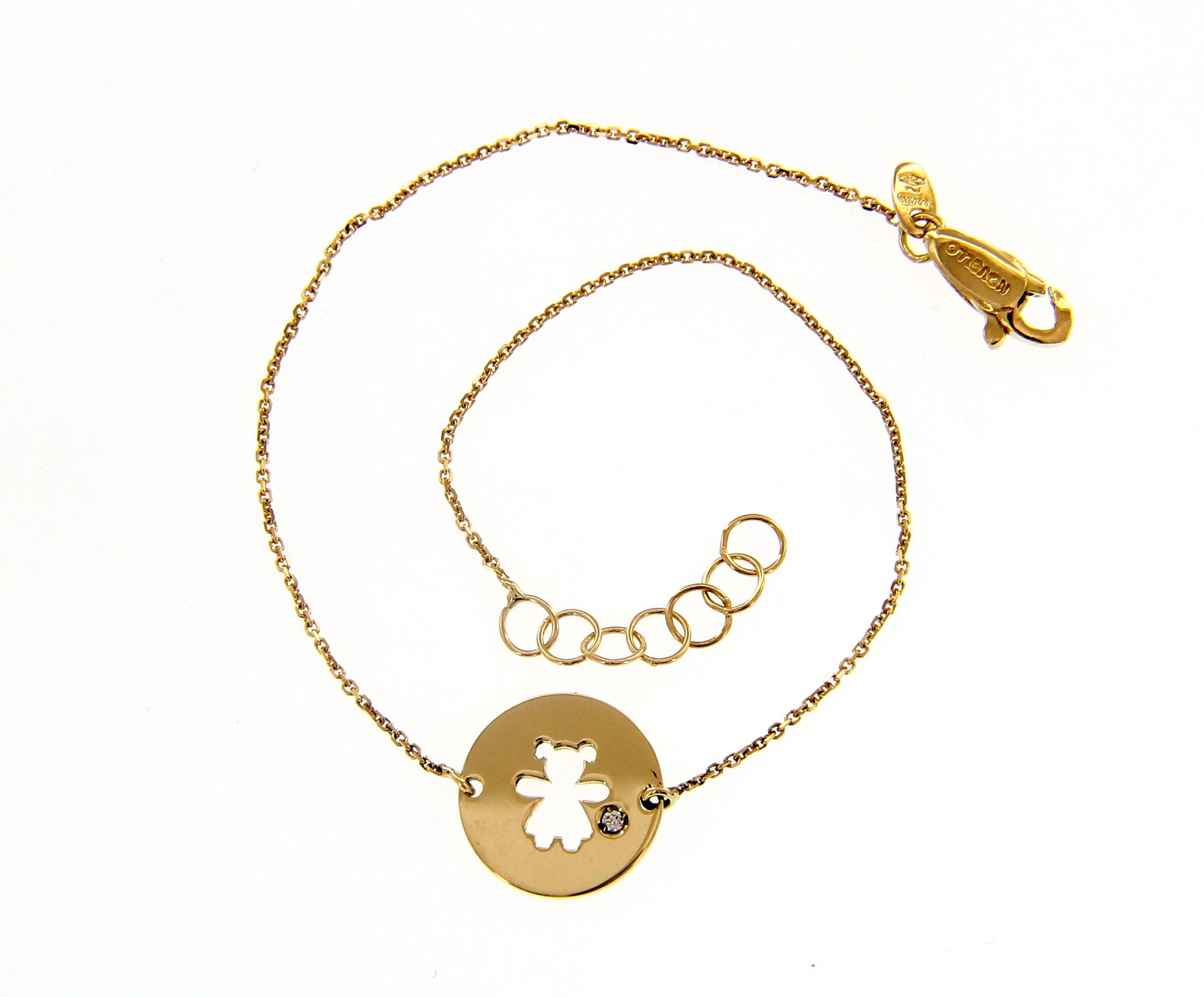 Cute 18ct Yellow Gold Bracelet