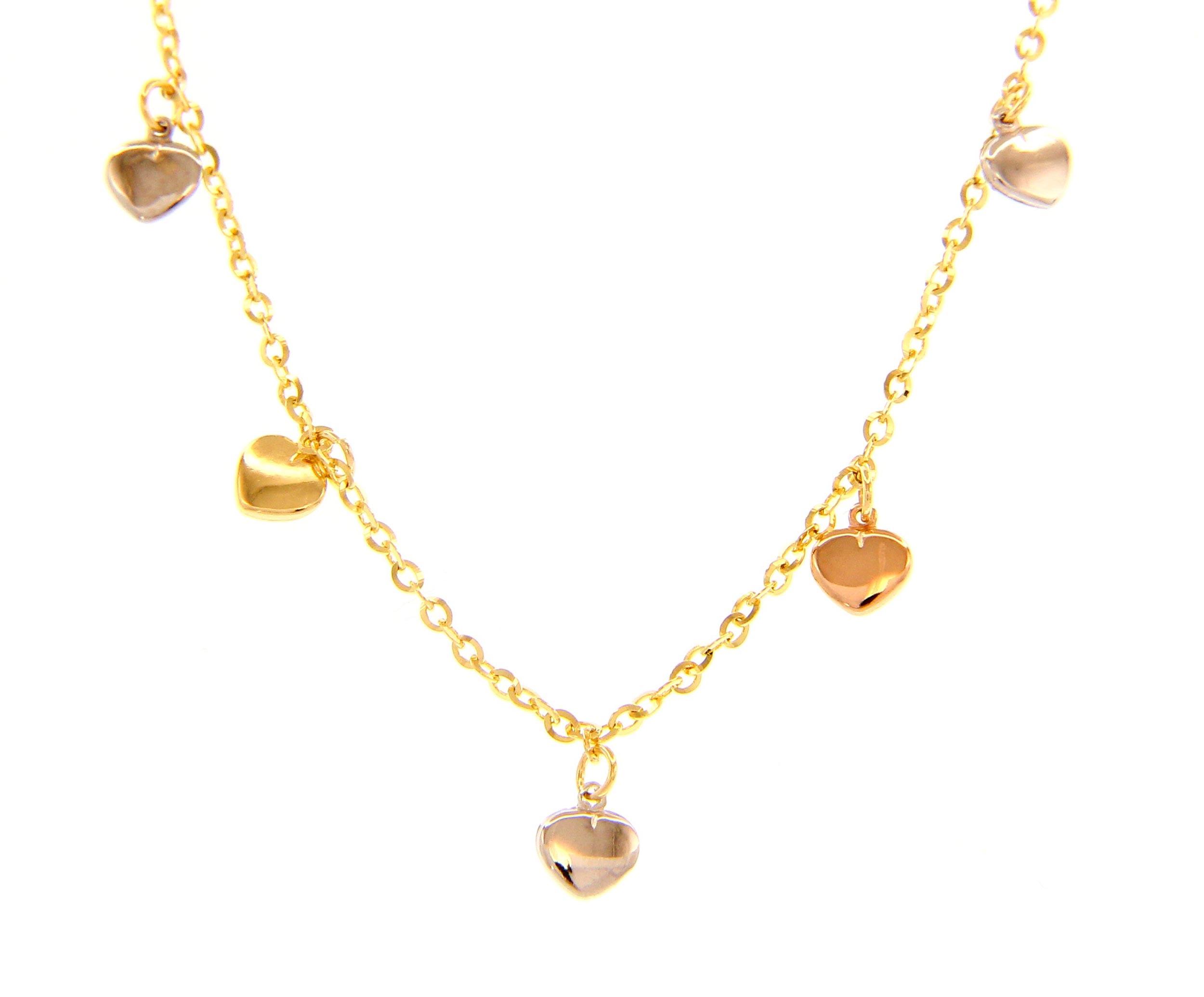 Beautiful 18ct Three Colours Gold Bracelet