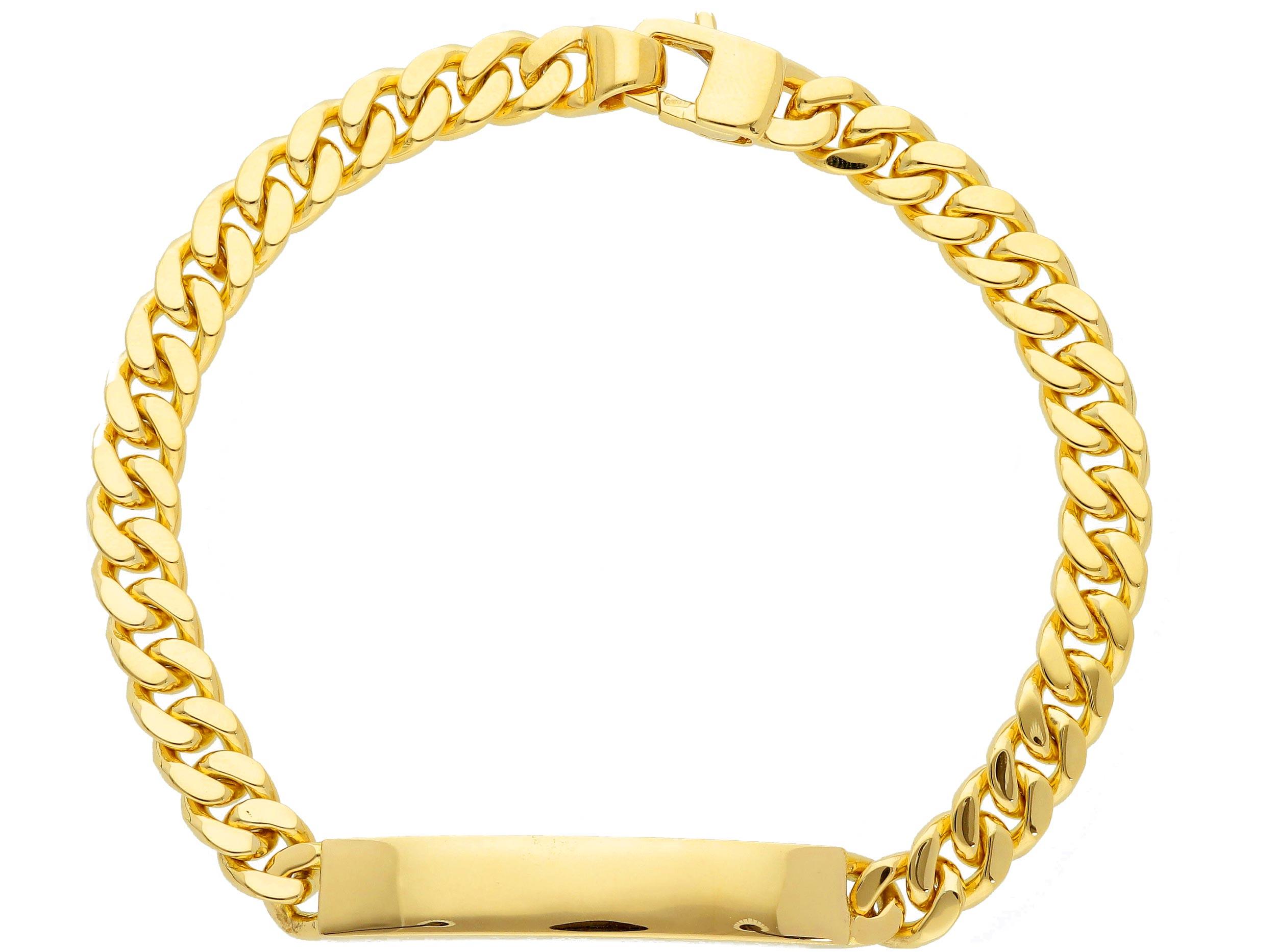 Stylish 28ct Pink Gold wire Bracelet 21cm