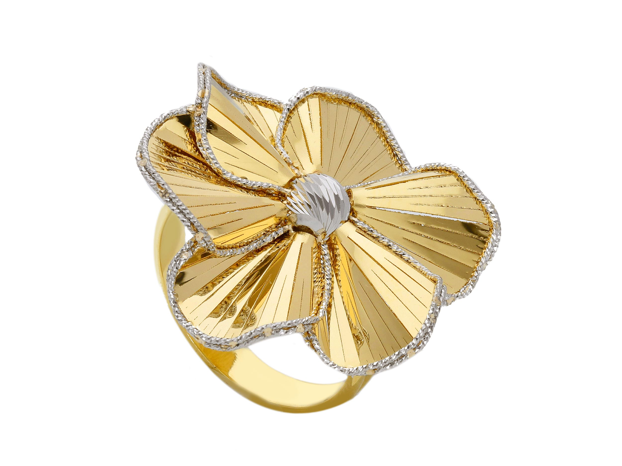 Beautiful 18ct Gold Yellow and white Ring