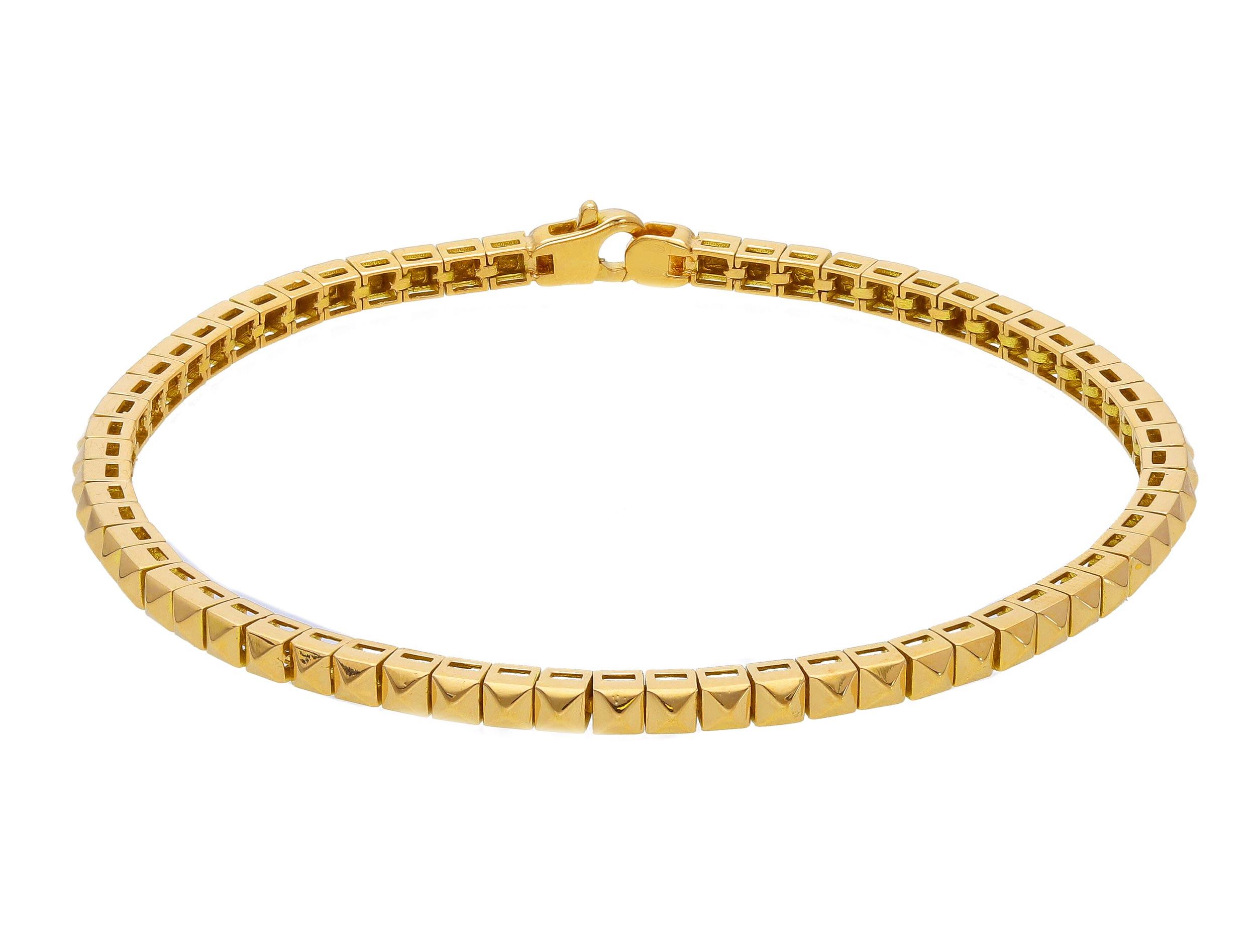 Stylish 18ct Yellow Gold Bracelet 21cm