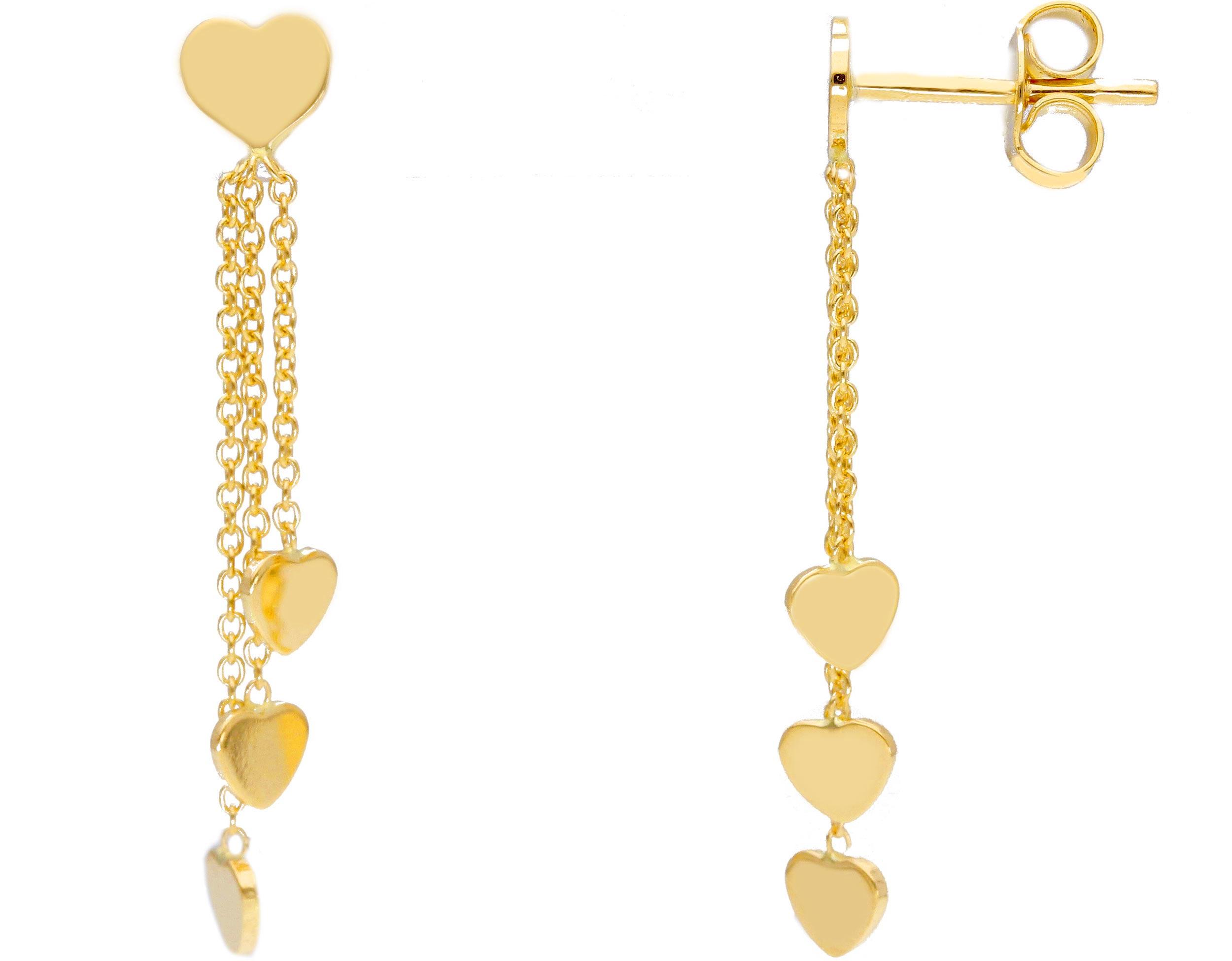 Beautiful 18ct Yellow Gold Babies Drop Earrings