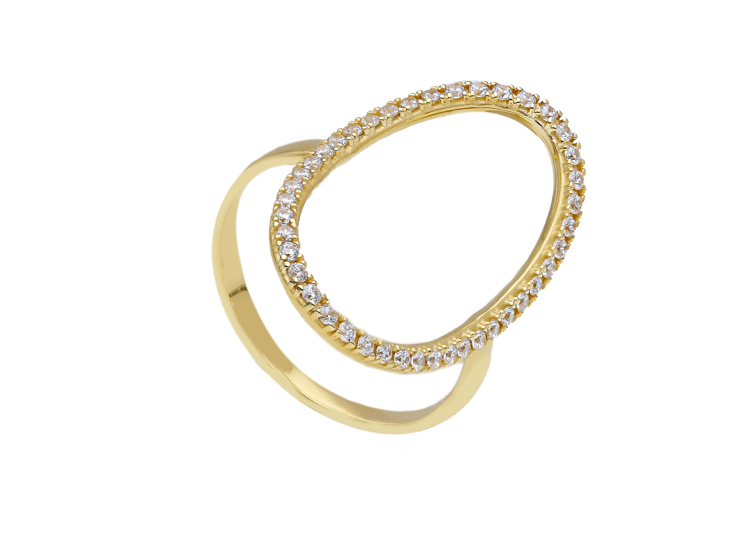 Beautiful 18ct Yellow Gold Ring with Cubic Zirconia
