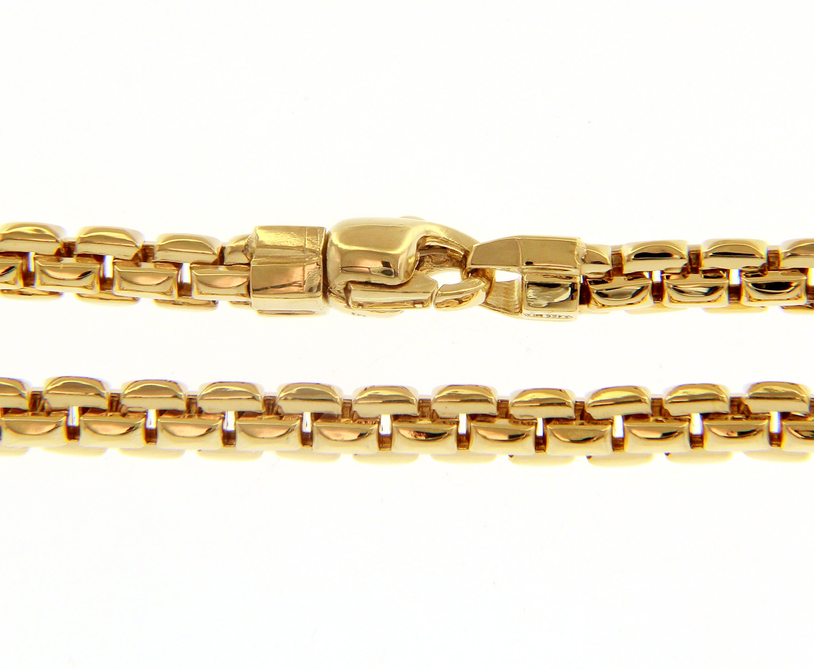 Cool, classic 18ct yellow Gold Necklace 3mm width and 50cm lenght