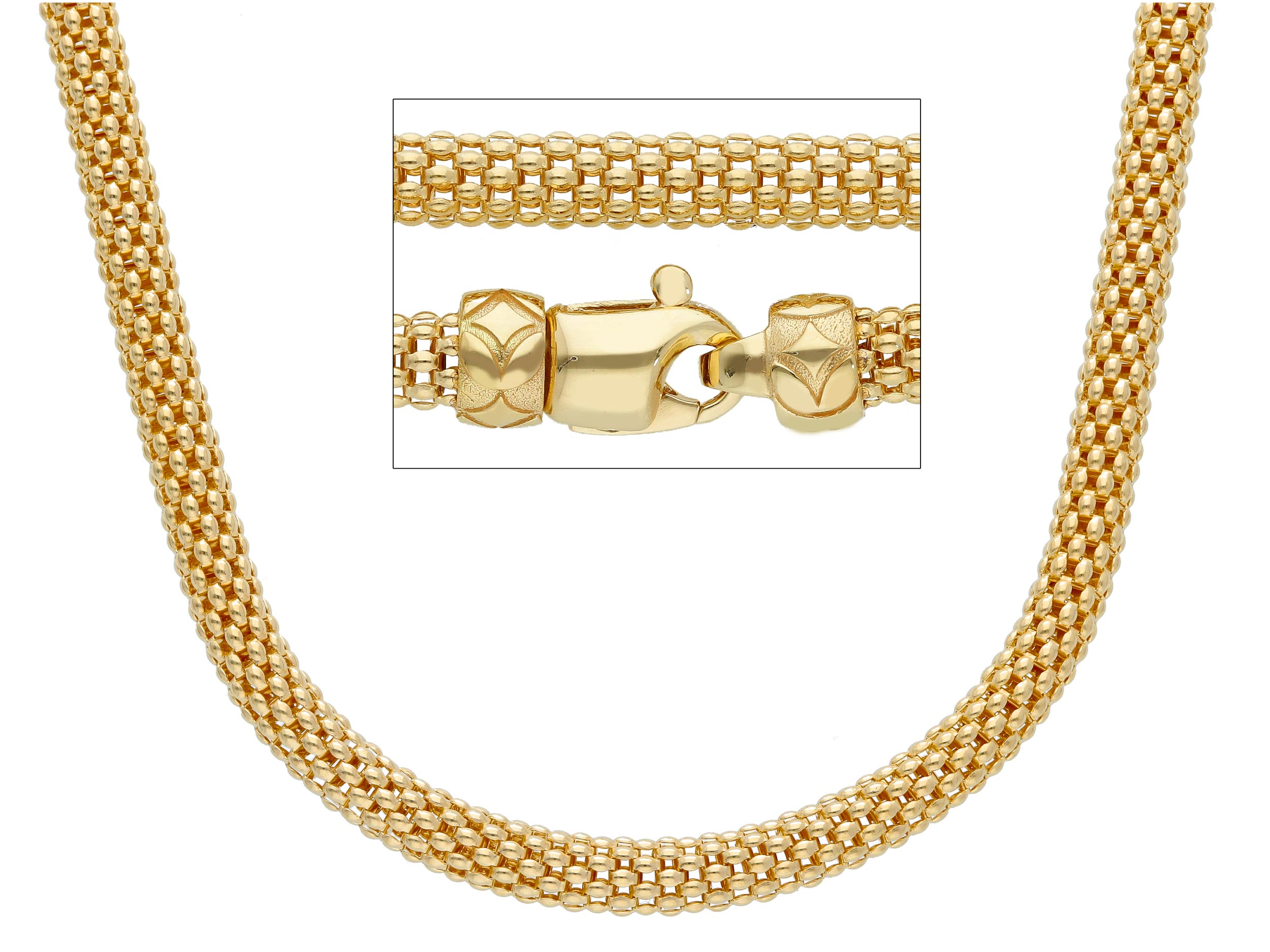 Magnificent 18ct yellow Gold Chain wire Necklace 1.4 and 50cm lenght